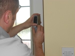 Shrewsbury locksmith changing locks on the door